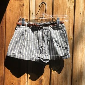 Forever 21| Stripped Shorts w/ Belt
